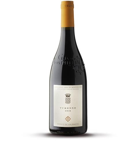 Bouteille de vin rouge BIO AOP Languedoc